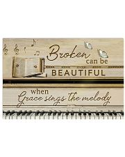 Pianist Broken can be beautiful 17x11 Poster front