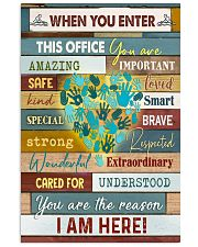 Massage Therapist  When you enter this office 11x17 Poster front