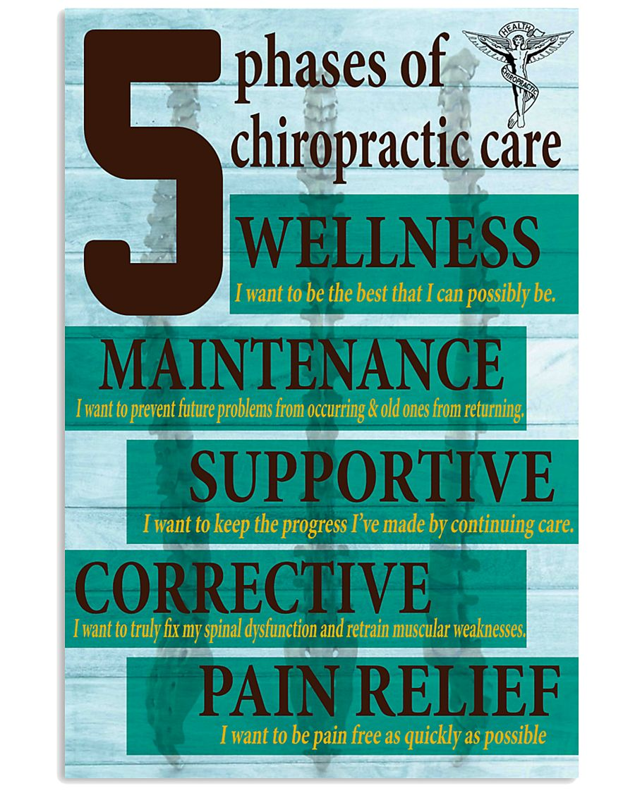 Chiropractor - 5 phases of chiropractic care 11x17 Poster