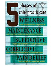Chiropractor - 5 phases of chiropractic care 11x17 Poster front