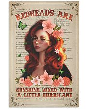 Redhead Is Sunshine Mixed With A Little Hurricane 11x17 Poster front