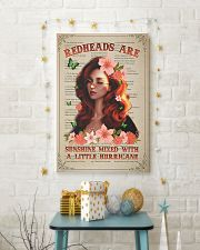 Redhead Is Sunshine Mixed With A Little Hurricane 11x17 Poster lifestyle-holiday-poster-3