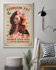Redhead Is Sunshine Mixed With A Little Hurricane 11x17 Poster lifestyle-poster-1