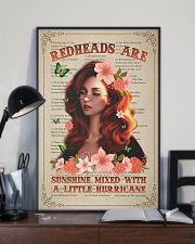 Redhead Is Sunshine Mixed With A Little Hurricane 11x17 Poster lifestyle-poster-2