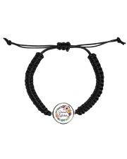Social Worker Flowery Gift Cord Circle Bracelet thumbnail