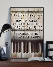 Piano Practice Until You Can't Get It Wrong 11x17 Poster lifestyle-poster-2