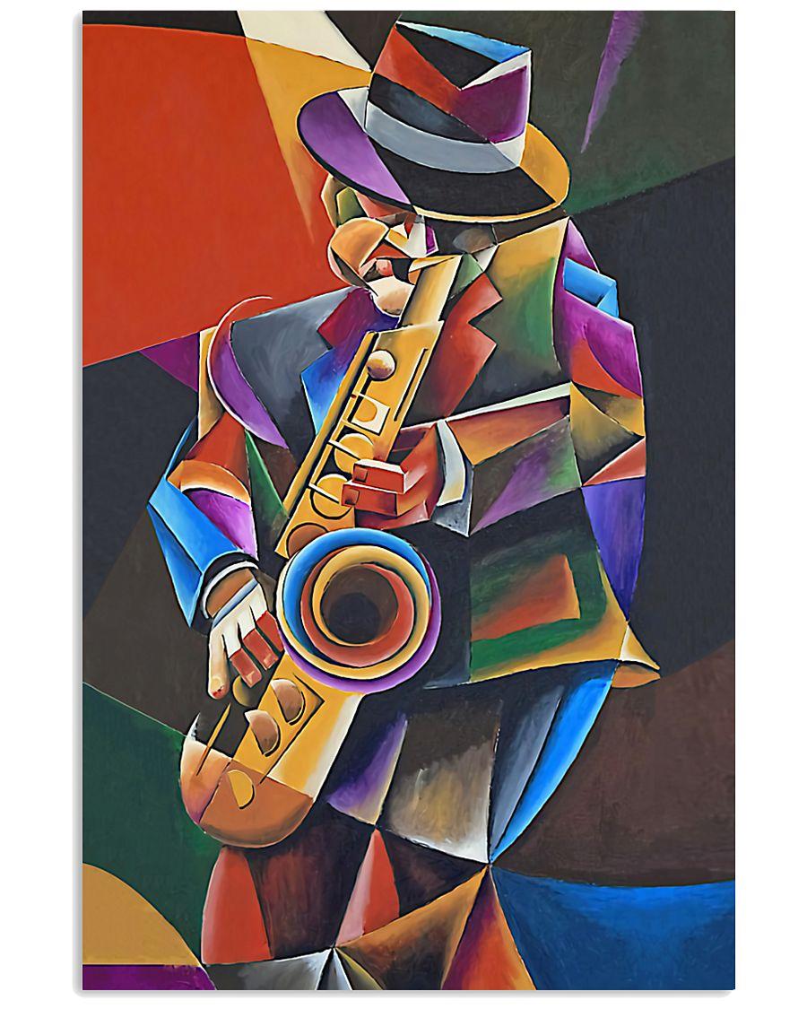 Saxophone Art Man  11x17 Poster
