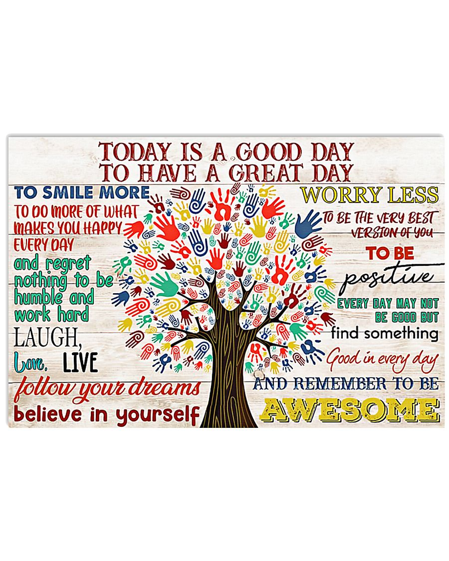 Social Worker Today Is A Good Day 17x11 Poster