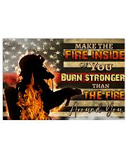 Firefighter make the fire inside  17x11 Poster front