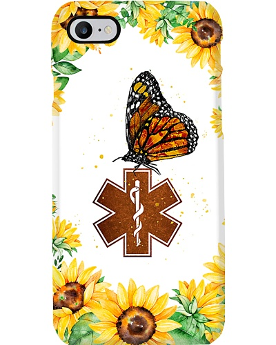 Paramedic Logo Butterfly And Sunflowers