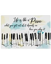Piano Life Is Like A Piano 17x11 Poster front