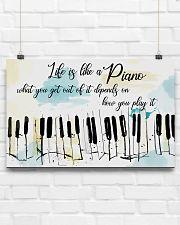 Piano Life Is Like A Piano 17x11 Poster poster-landscape-17x11-lifestyle-17