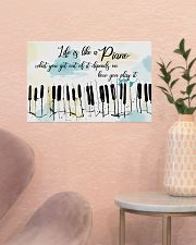 Piano Life Is Like A Piano 17x11 Poster poster-landscape-17x11-lifestyle-22