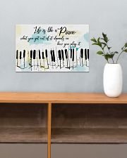 Piano Life Is Like A Piano 17x11 Poster poster-landscape-17x11-lifestyle-24