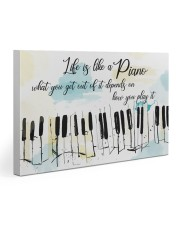 Piano Life Is Like A Piano 30x20 Gallery Wrapped Canvas Prints thumbnail