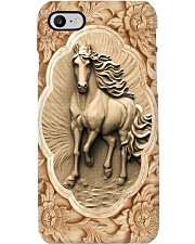 Horse Girl Horse And Flowers Wood Sculpture Art Phone Case i-phone-8-case