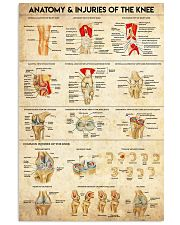 Physical Therapy Anatomy And Injuries Of The Knee 11x17 Poster front