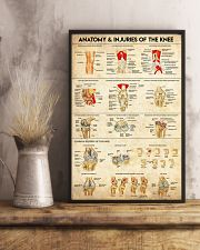 Physical Therapy Anatomy And Injuries Of The Knee 11x17 Poster lifestyle-poster-3
