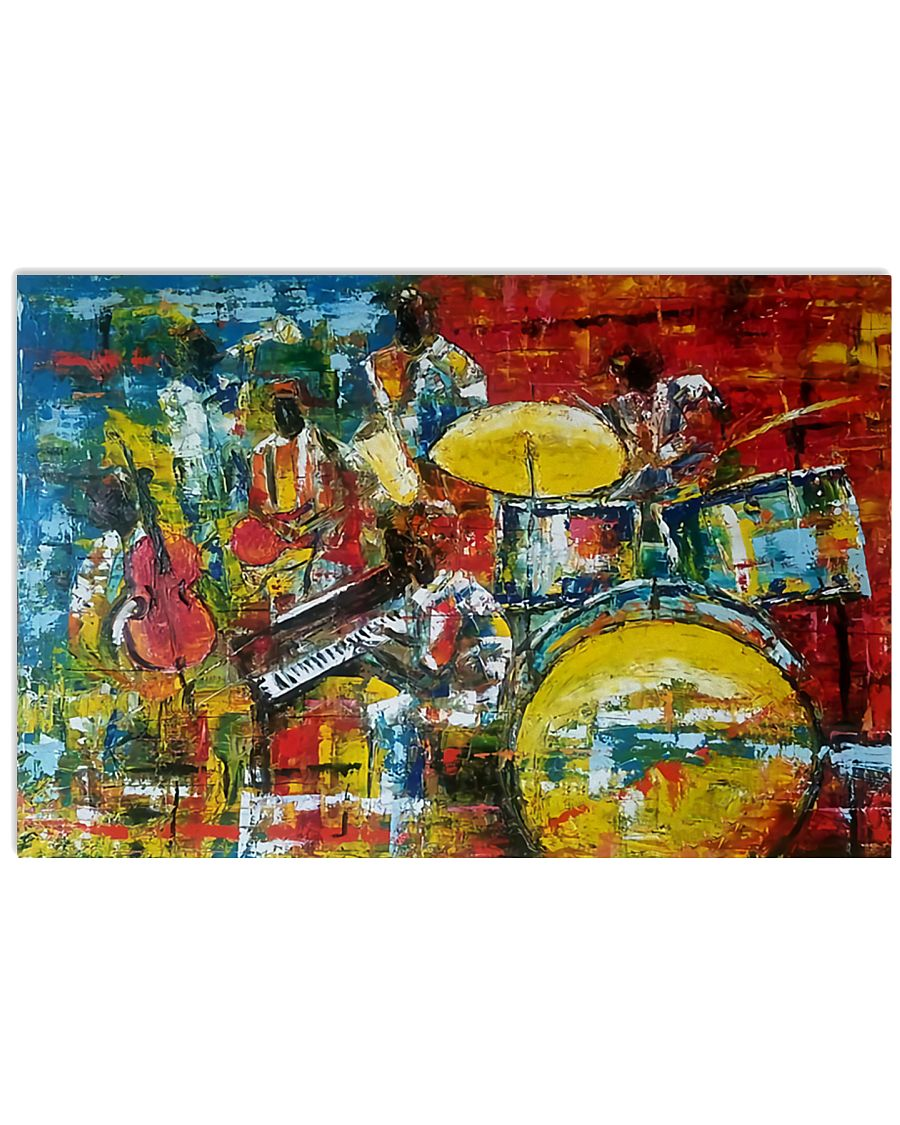 Drummer Painting 17x11 Poster