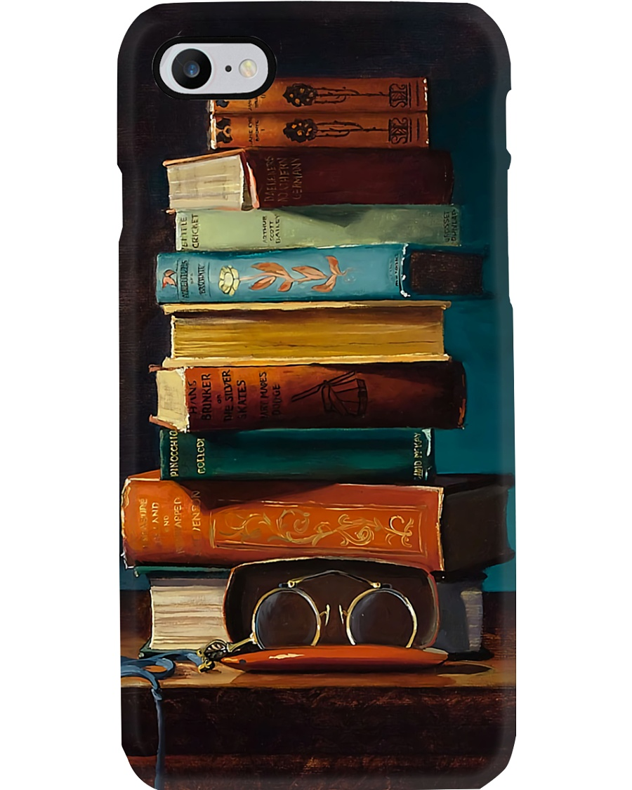 Books And Glasses Phone Case