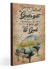 Piano Your Talent Is God's Gift 20x30 Gallery Wrapped Canvas Prints thumbnail