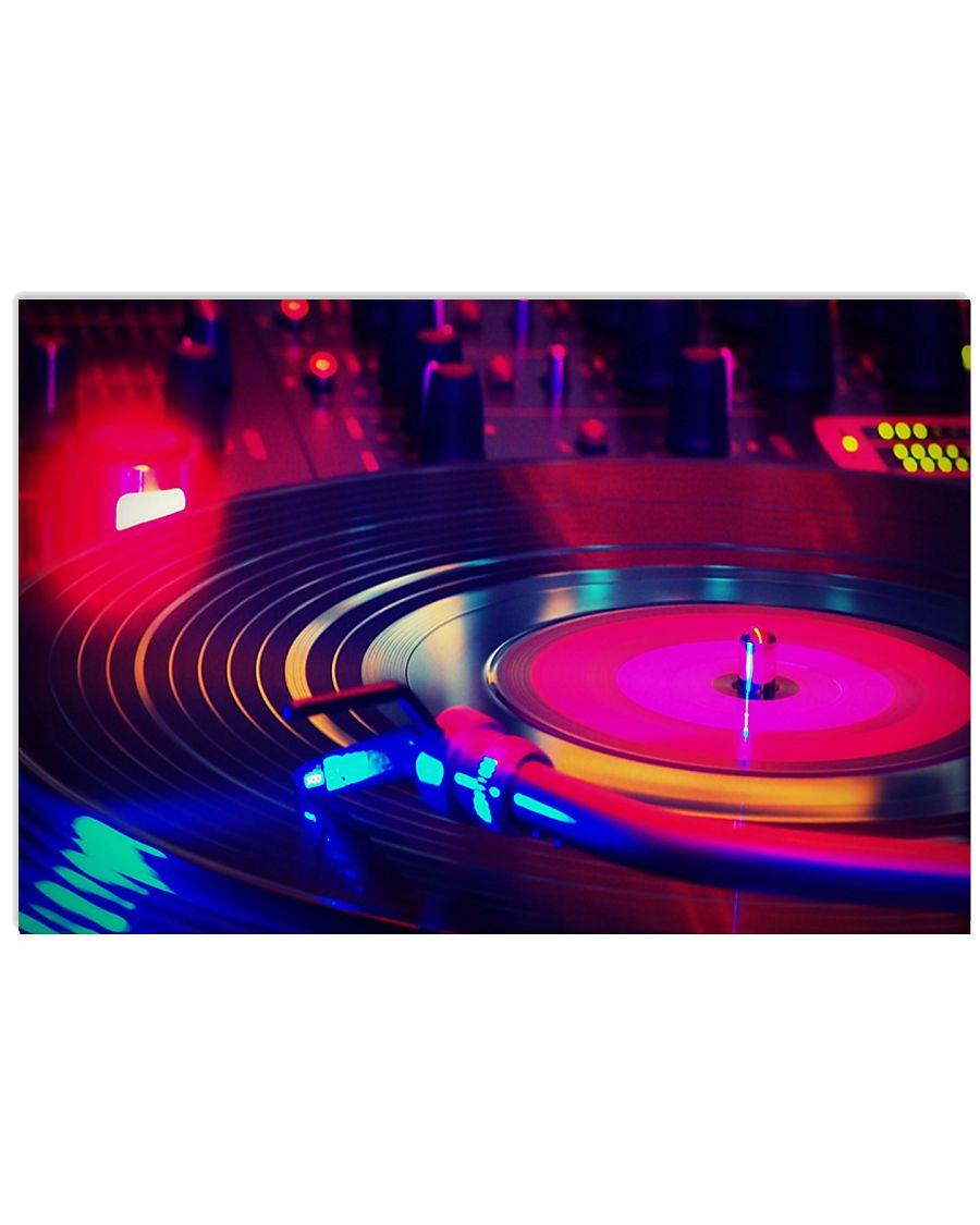DJ Vinyl Lively Music 17x11 Poster