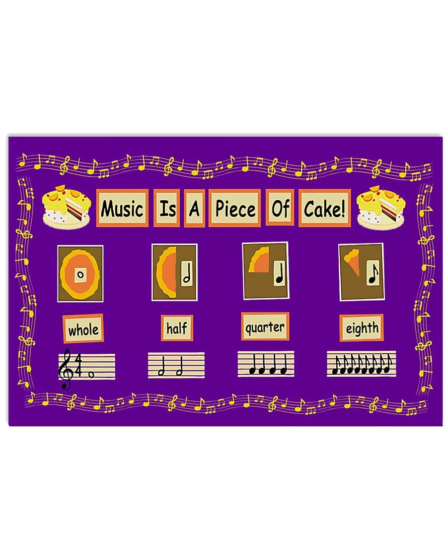 Teacher Music Is A Piece Of Cake 17x11 Poster