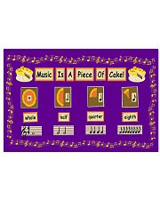 Teacher Music Is A Piece Of Cake 17x11 Poster front