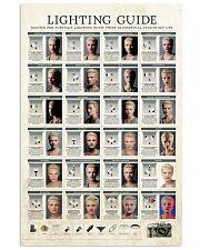 Photographer Lighting Guide 11x17 Poster front