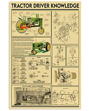 Farmer Tractor Driver Knowledge 11x17 Poster front