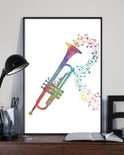 Watercolor Trumpet And Music Notes 11x17 Poster lifestyle-poster-2