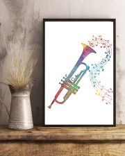 Watercolor Trumpet And Music Notes 11x17 Poster lifestyle-poster-3