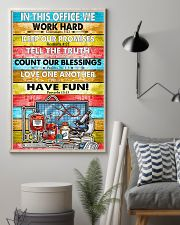 Nurse In this office we word hard 11x17 Poster lifestyle-poster-1