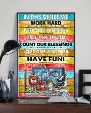 Nurse In this office we word hard 11x17 Poster lifestyle-poster-2