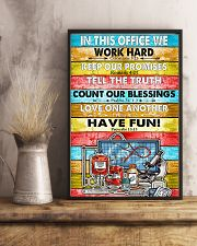 Nurse In this office we word hard 11x17 Poster lifestyle-poster-3