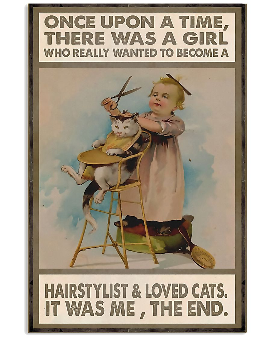 Hairdresser A Girl Wanted To Become A Hairstylist  11x17 Poster