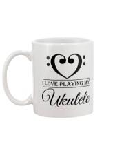 Clef Heart I Love Ukulele Mug back