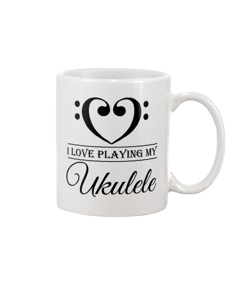 Clef Heart I Love Ukulele Mug