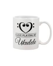 Clef Heart I Love Ukulele Mug front