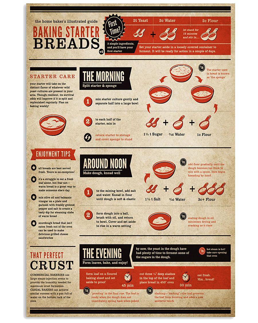 Baking Starter Breads 11x17 Poster