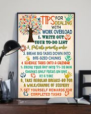 Social Worker Tips For Dealing With Work Overload 11x17 Poster lifestyle-poster-2