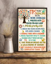 Social Worker Tips For Dealing With Work Overload 11x17 Poster lifestyle-poster-3