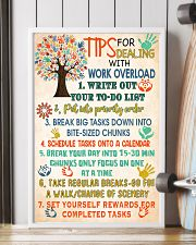 Social Worker Tips For Dealing With Work Overload 11x17 Poster lifestyle-poster-4