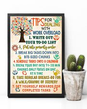 Social Worker Tips For Dealing With Work Overload 11x17 Poster lifestyle-poster-8