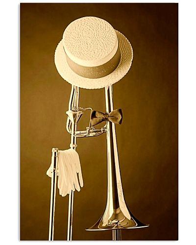 Trombonist Hat on trombone poster