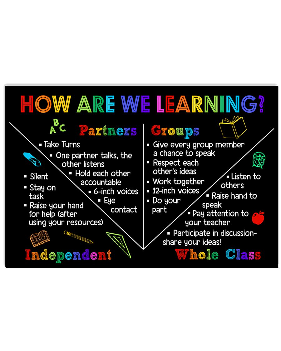 Teacher How Are We Learning 17x11 Poster