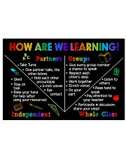 Teacher How Are We Learning 17x11 Poster front