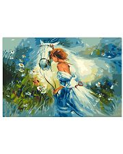 Horse Girl Art 17x11 Poster front