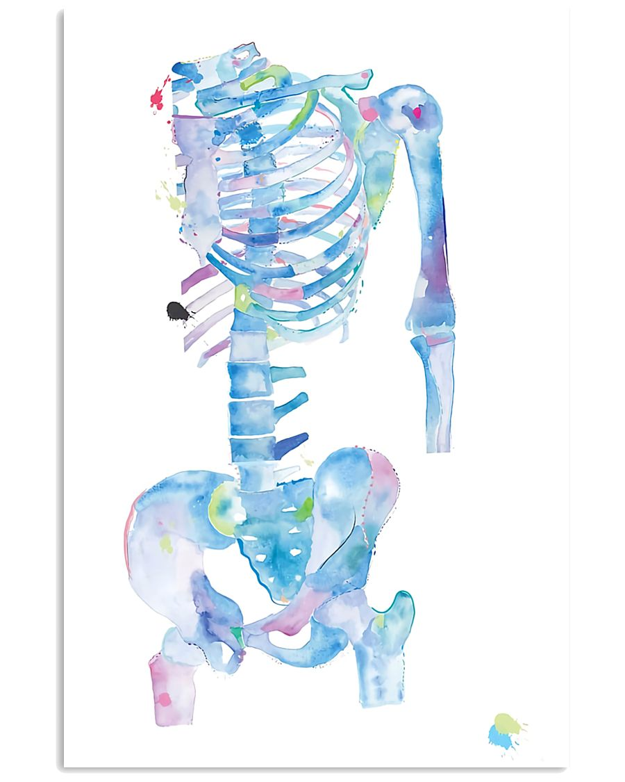 Physical Therapist Skeleton Art 11x17 Poster