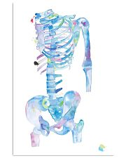 Physical Therapist Skeleton Art 11x17 Poster front